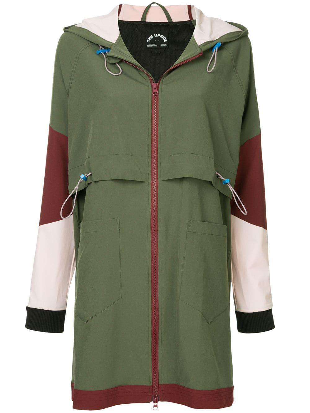 b09db9d509bb The Upside Saratoga Hooded Colorblock Anorak Jacket In Green