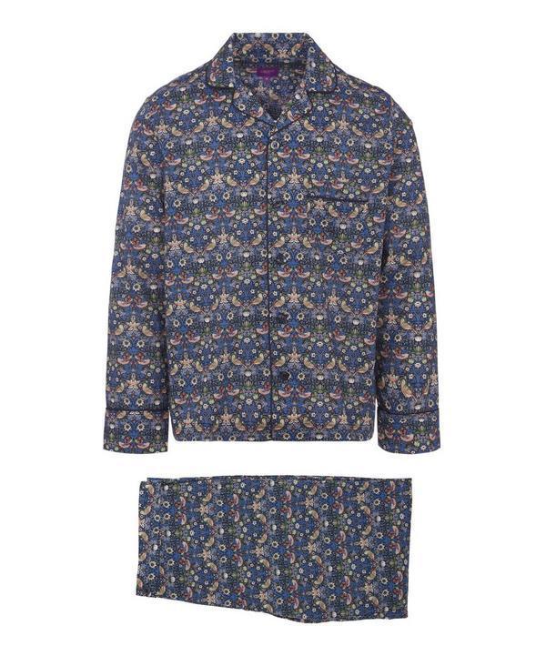 24cceca1384 Liberty London Strawberry Thief Tana Lawn Cotton Long Pyjama Set In Navy