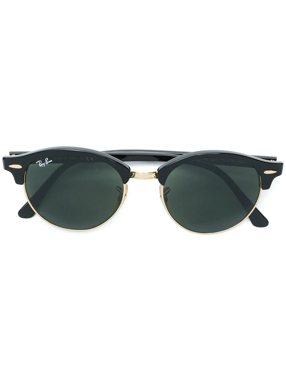 a77449dd4be6 Ray Ban Ray-Ban Clubround Sunglasses - Black | ModeSens