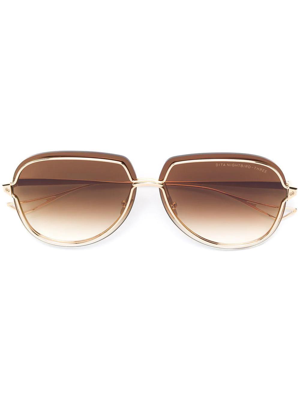 66af74b50e72 Dita Eyewear Nightbird-Three Sunglasses - Gold