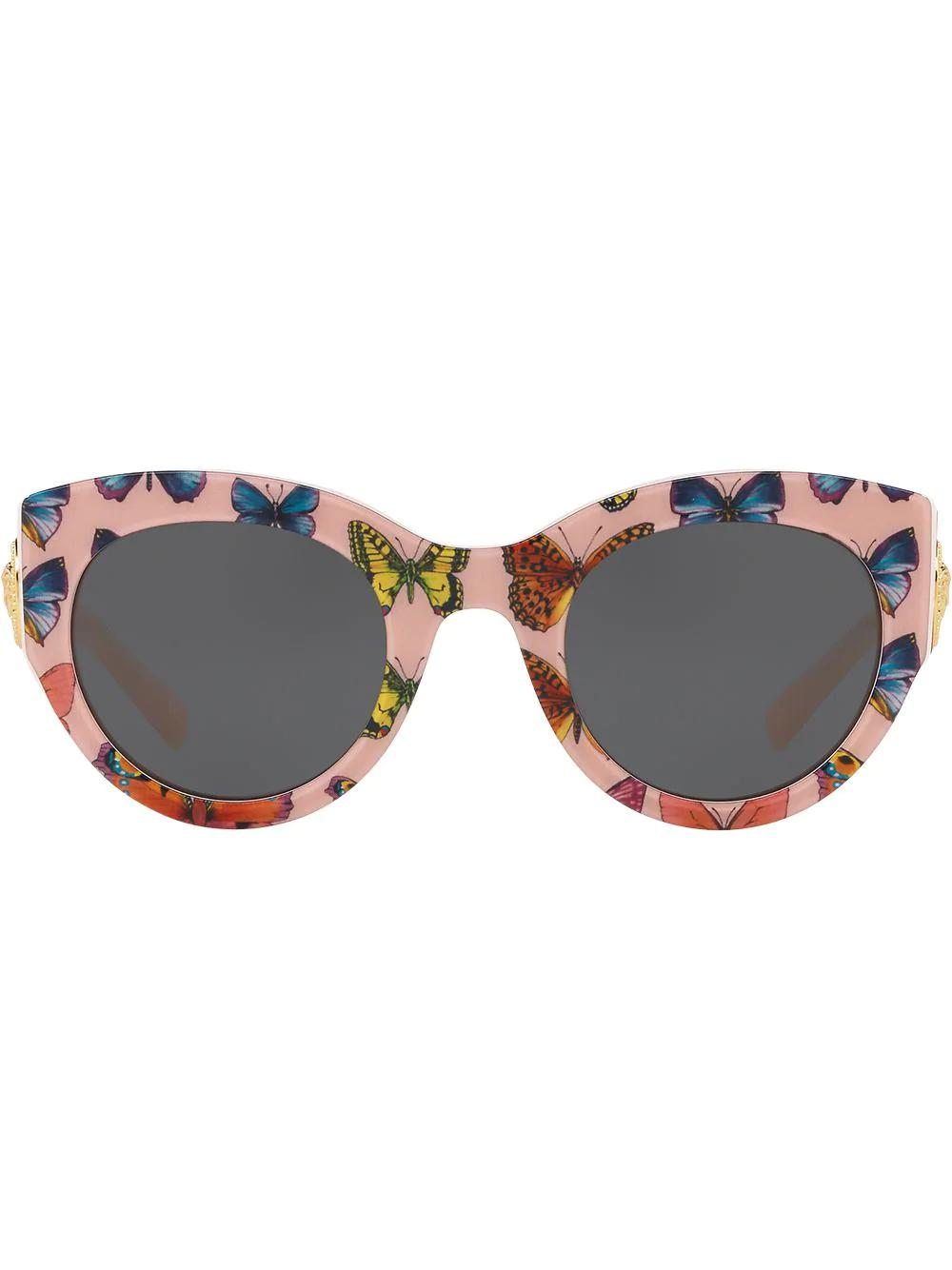 8869677802 Versace Eyewear Tribute Butterfly Print Sunglasses - Pink. Farfetch