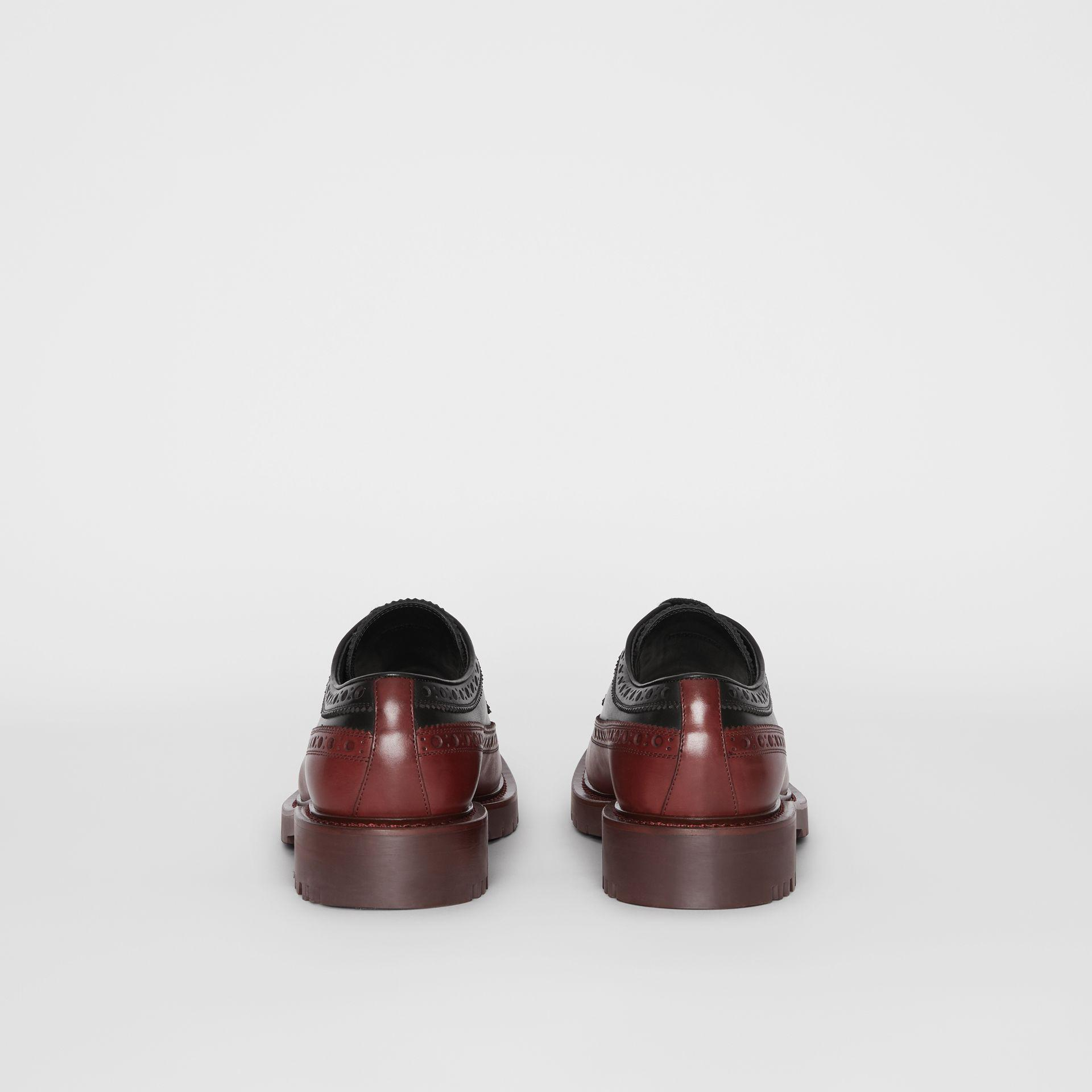 a49c23697 Burberry Brogue Detail Leather Derby Shoes In Black