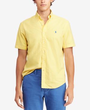 68bd2ef8e Polo Ralph Lauren Short-Sleeve Classic Fit Button-Down Shirt In Empire  Yellow