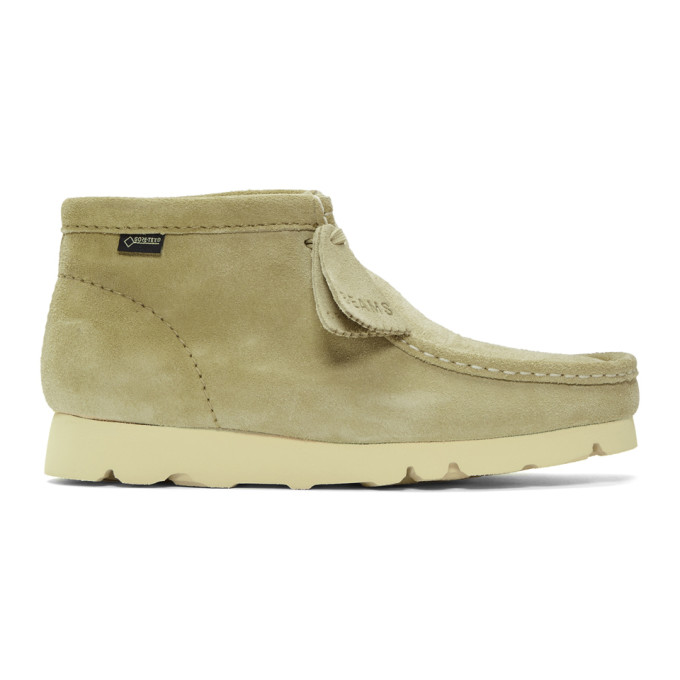 92a5ccef41bd3 Clarks Originals Beige Beams Edition Suede Wallabee Gtx Boots In Maple Suede