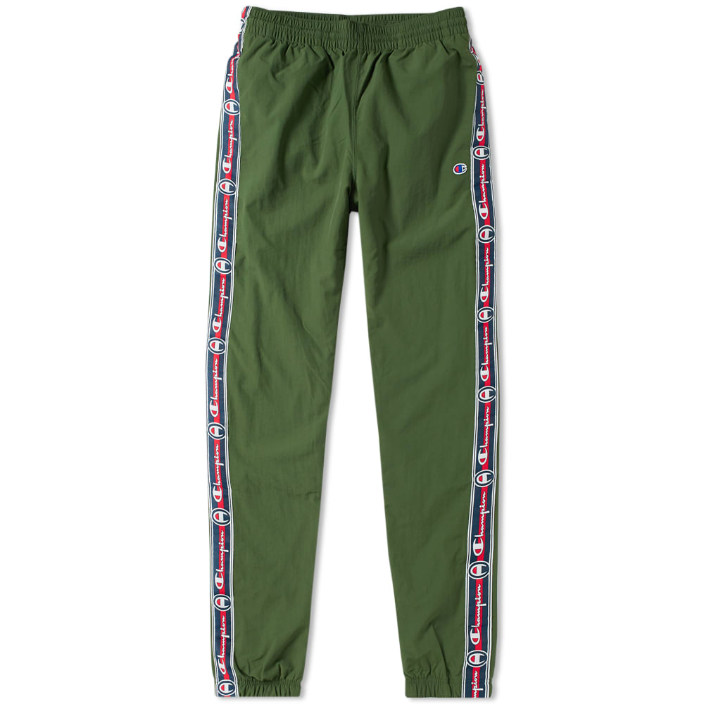 reputable site low cost size 7 Champion Reverse Weave Corporate Taped Track Pant in Green