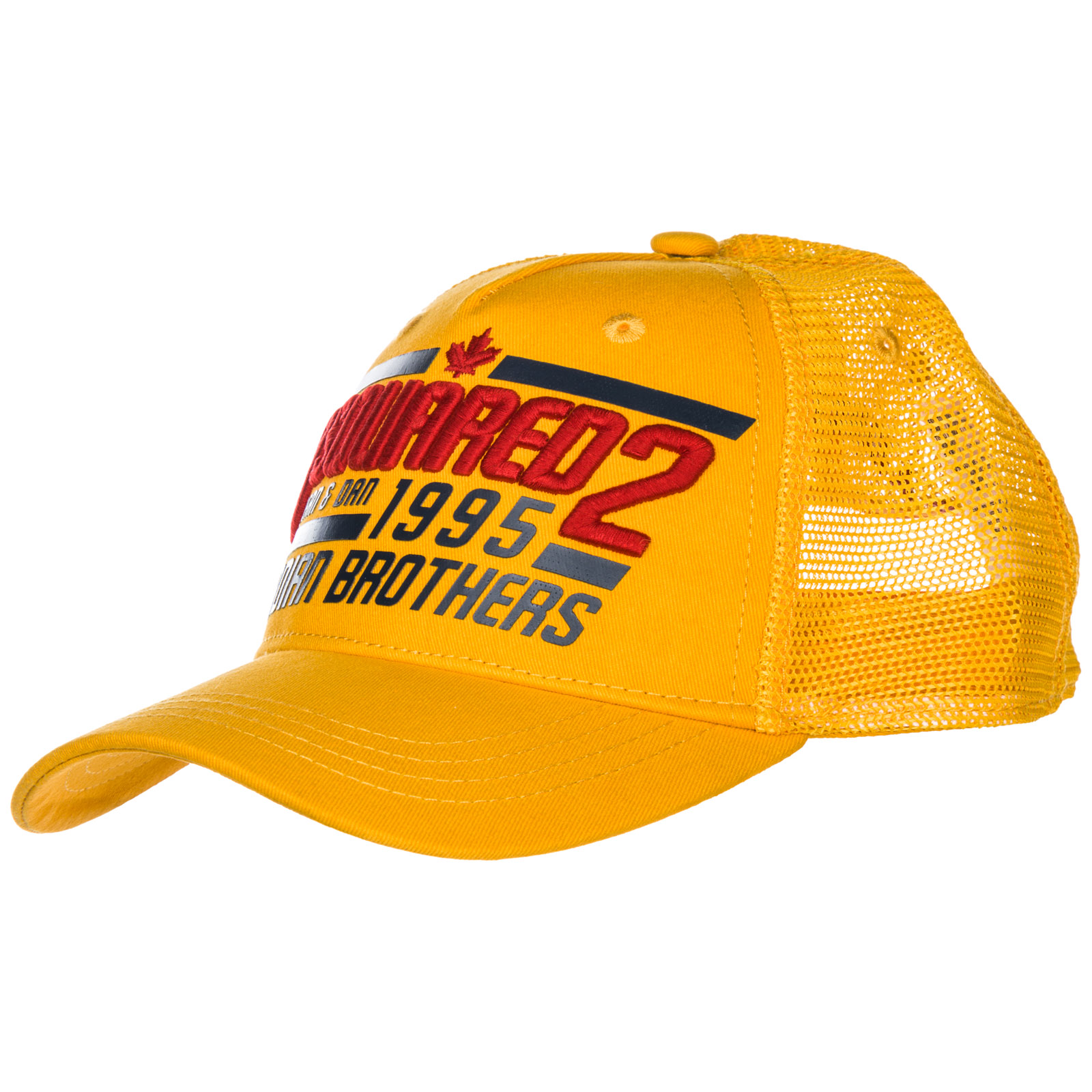 0d01123e13a11 Dsquared2 Adjustable Men s Cotton Hat Baseball Cap Canadian Brothers In  Yellow
