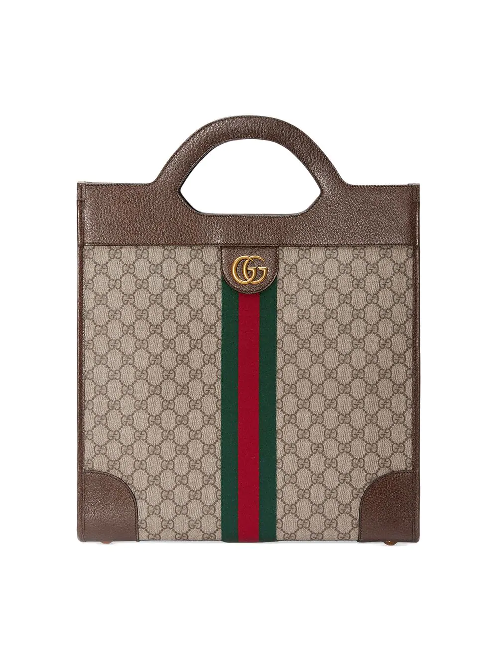 Gucci Ophidia Gg Medium Top Handle Tote In Brown