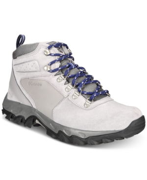Columbia Men S Newton Ridge Plus Ii Waterproof Hiking Boots Men S Shoes In Ti Titanium Cousteau Modesens