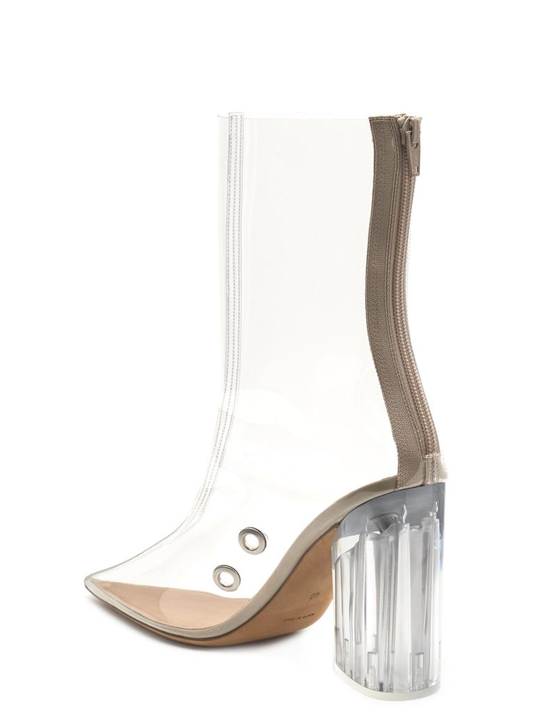 3406c4fcc2f Yeezy Pvc High-Heeled Ankle Boots In Beige