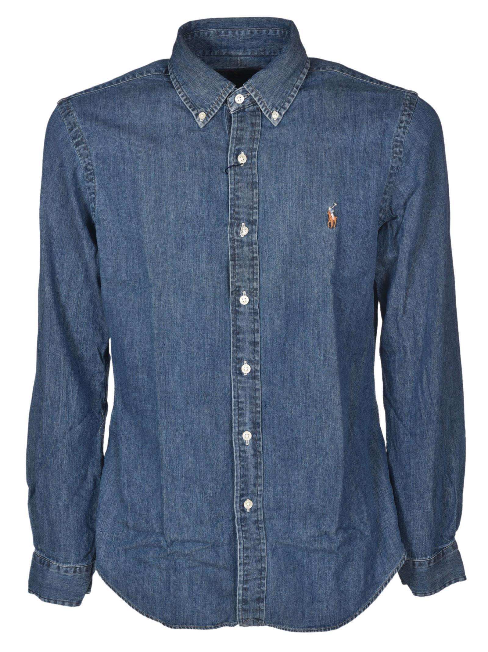 efef3e878f9ae Polo Ralph Lauren Slim Fit Denim Sport Shirt