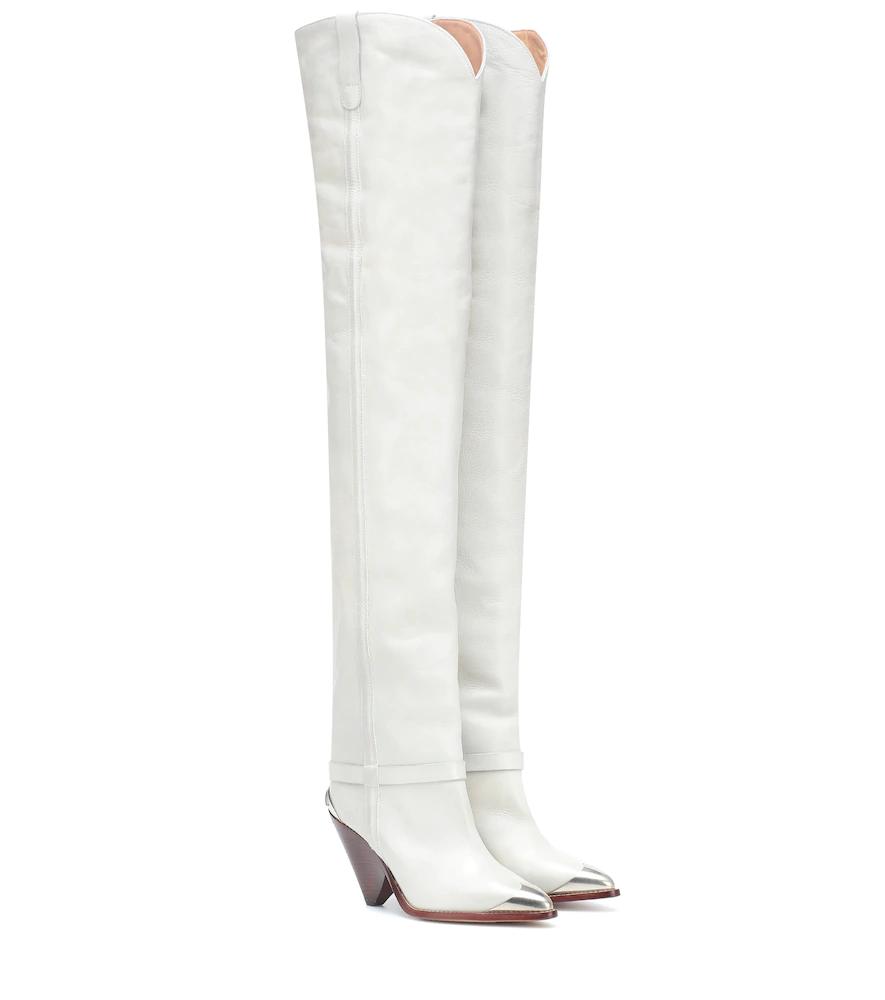 da21067daad Isabel Marant Lafsten Over-The-Knee Boots In Grey