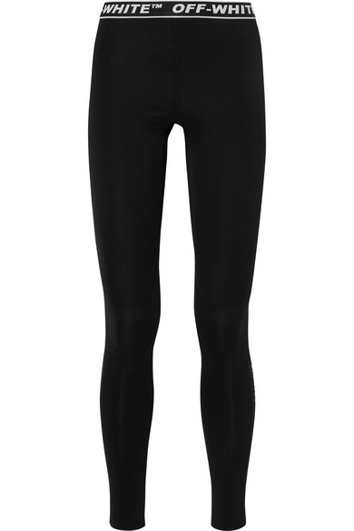 b068cf6a4540a Off-White Off White Cannette' Simple Leggings In Black   ModeSens