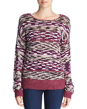 00f6870b7cc491 Cupio Mixed Knit Sweater In Blue. Bloomingdale's