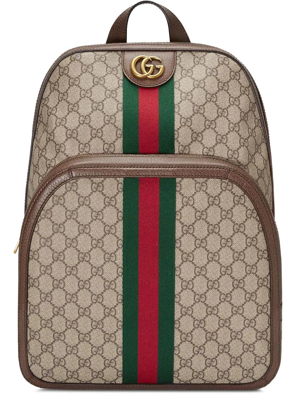 8b51d9f40458 Gucci Men's Gg Supreme Medium Canvas Backpack, Beige In Brown | ModeSens