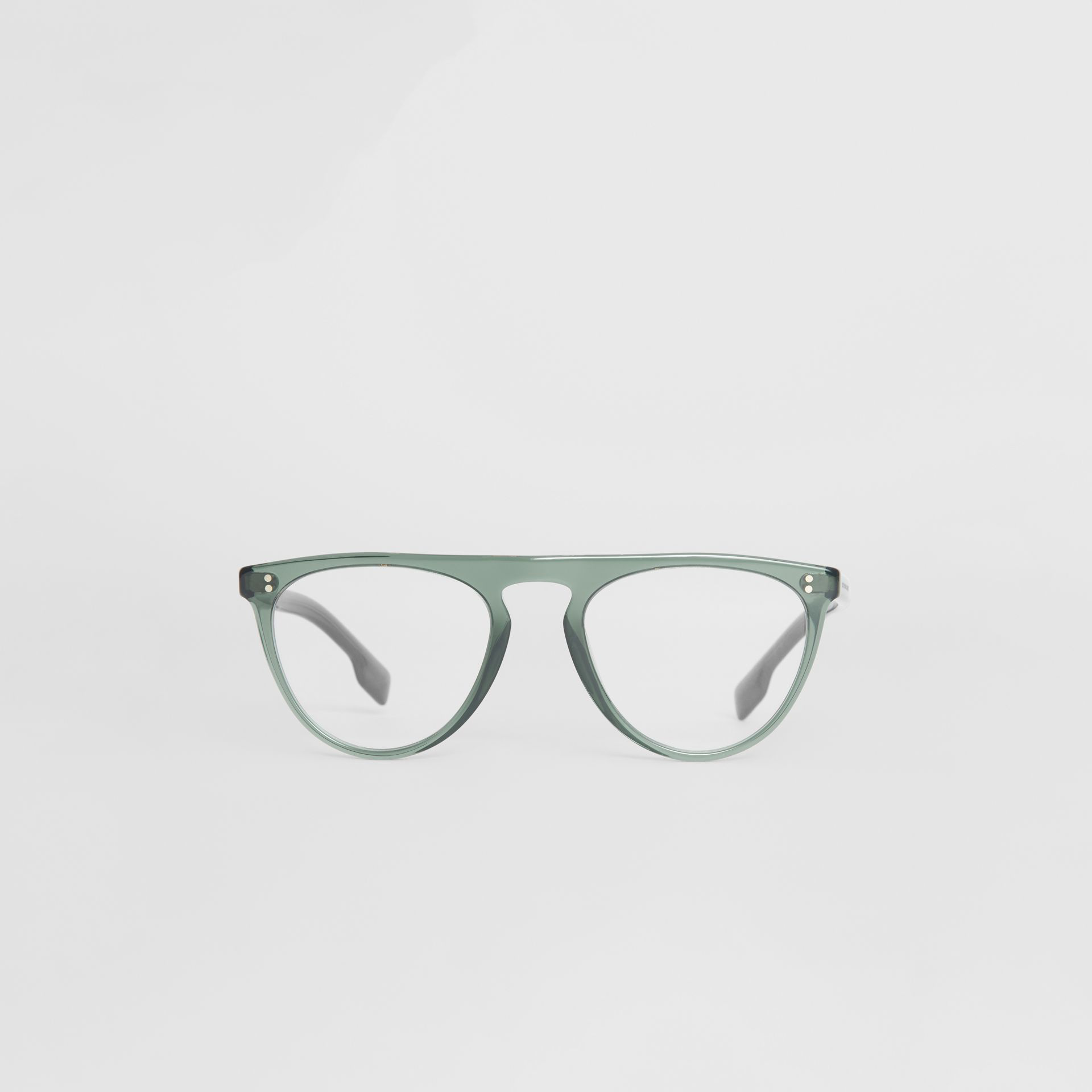 89b1ef711b6 Burberry Keyhole D-Shaped Optical Frames In Green