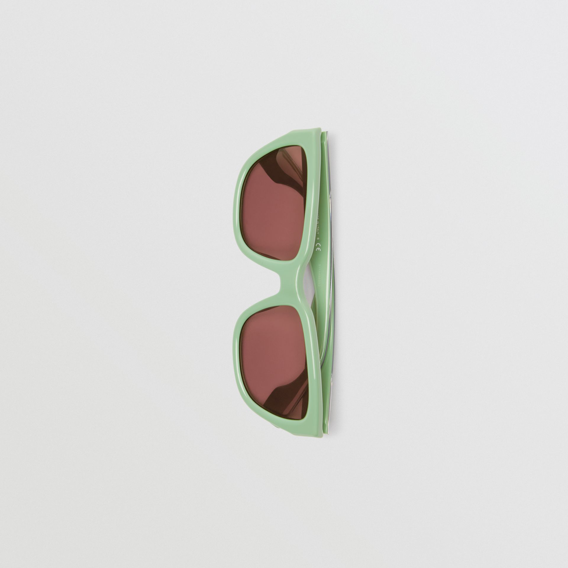 a5f8861fae3 Burberry Square Frame Sunglasses In Mint Green