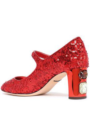 54d8e2facea Dolce & Gabbana Woman Mid Heel Pumps Red