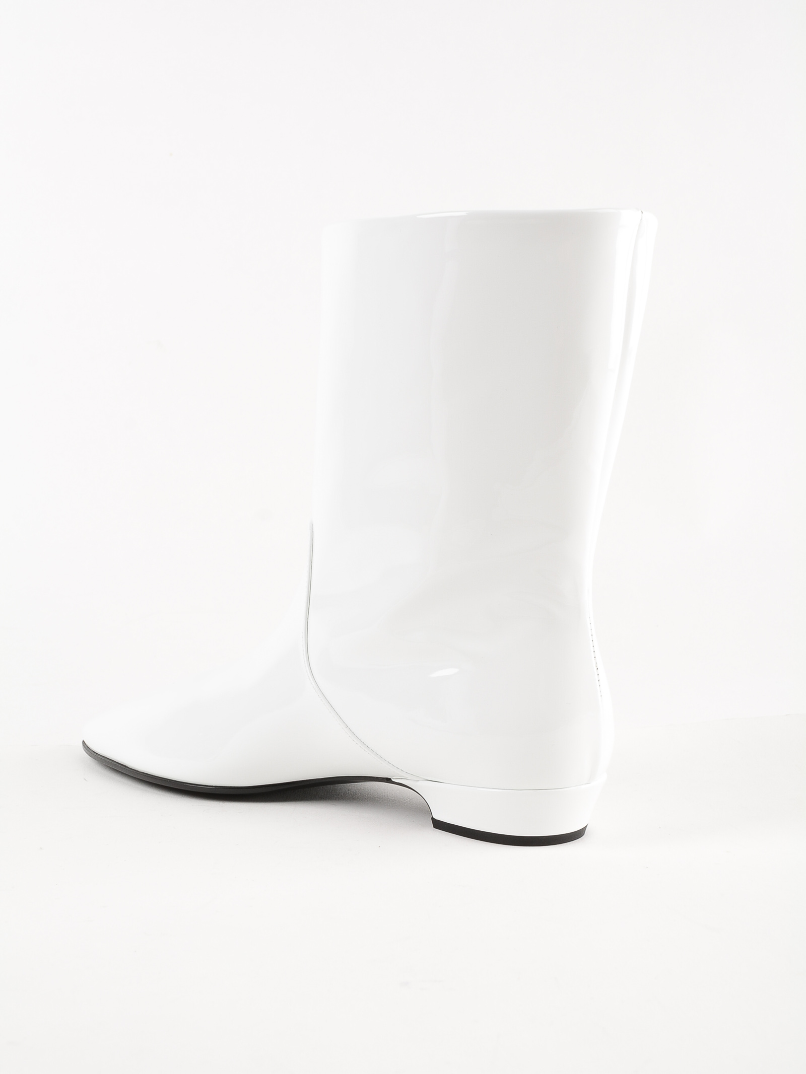 c37b2a88d4be Miu Miu Logo-AppliquÉD Patent-Leather Ankle Boots In White