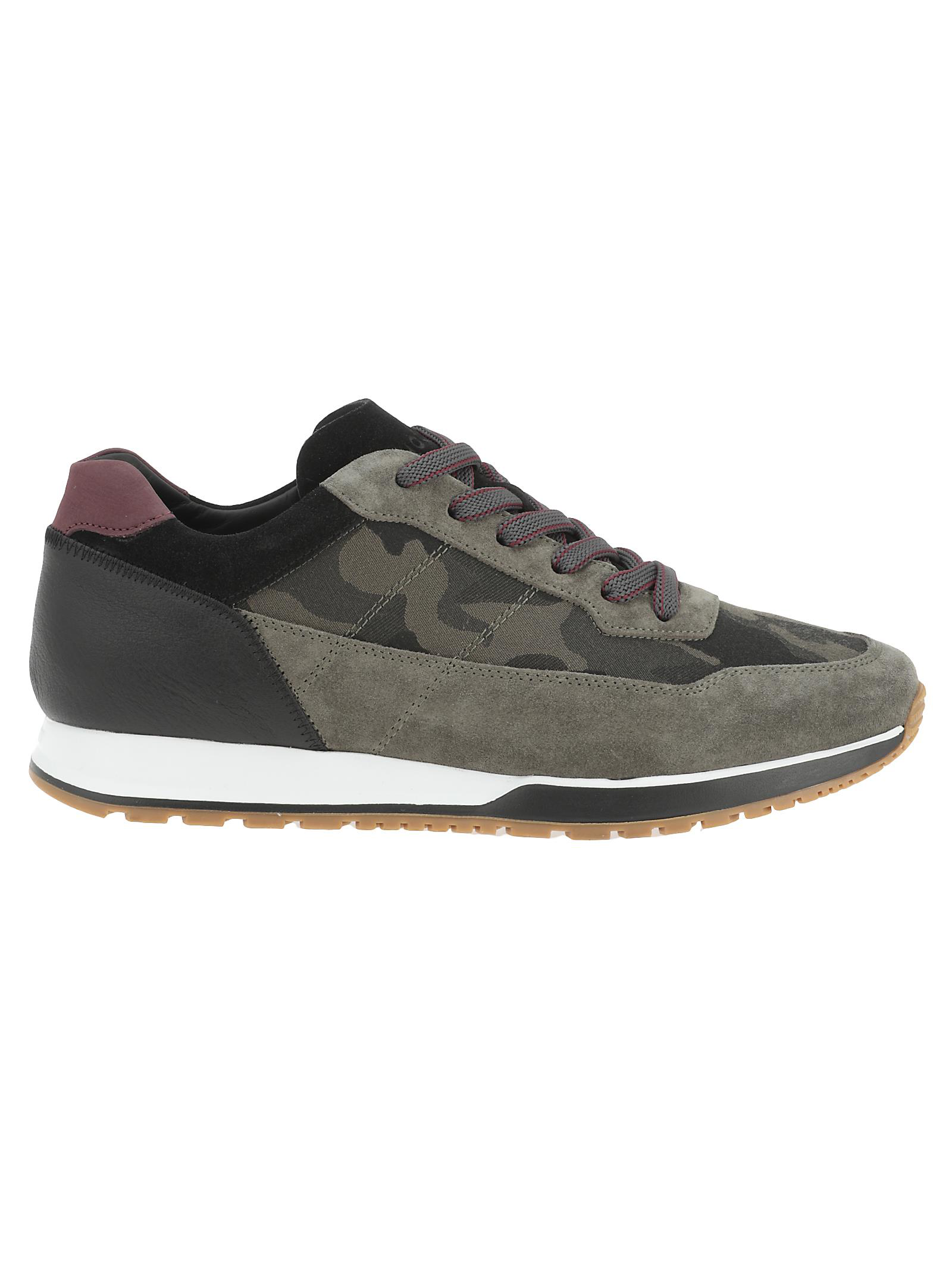 Hogan H321 Camouflage Print Sneakers In White   ModeSens