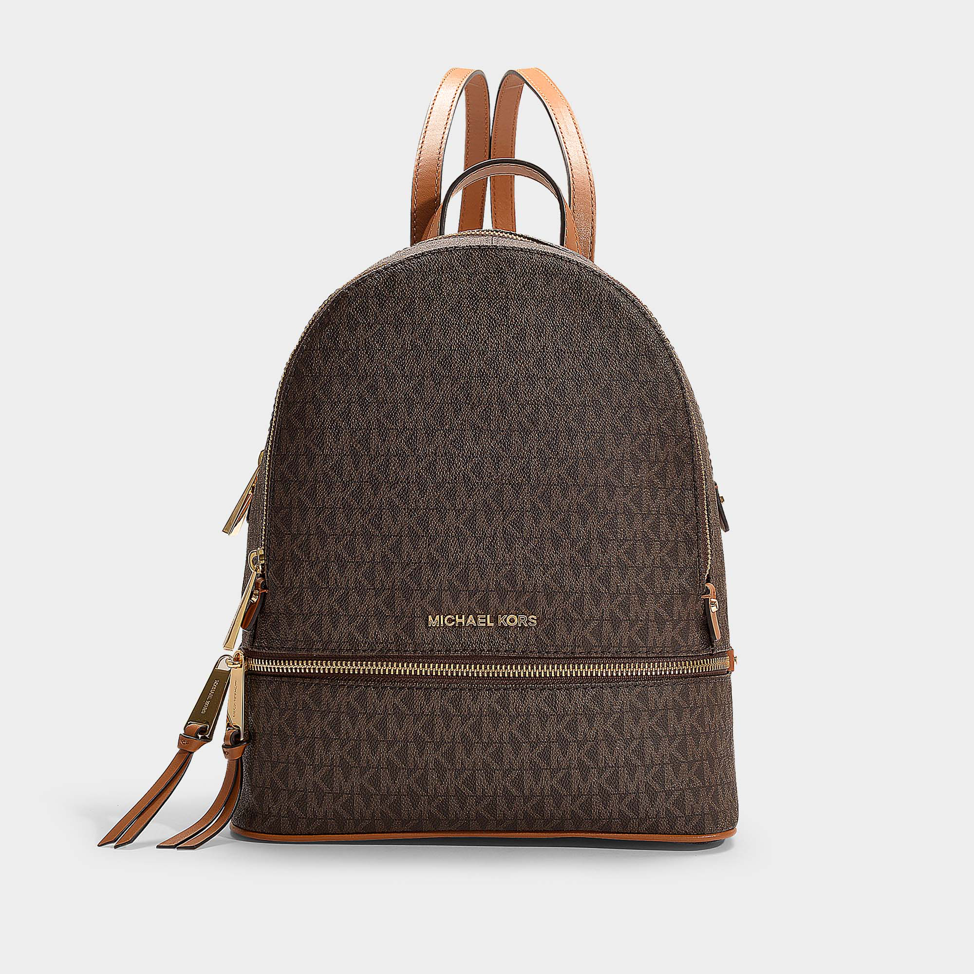 d51516be45d8 Michael Michael Kors Rhea Zip Medium Leather Backpack – Patmo ...