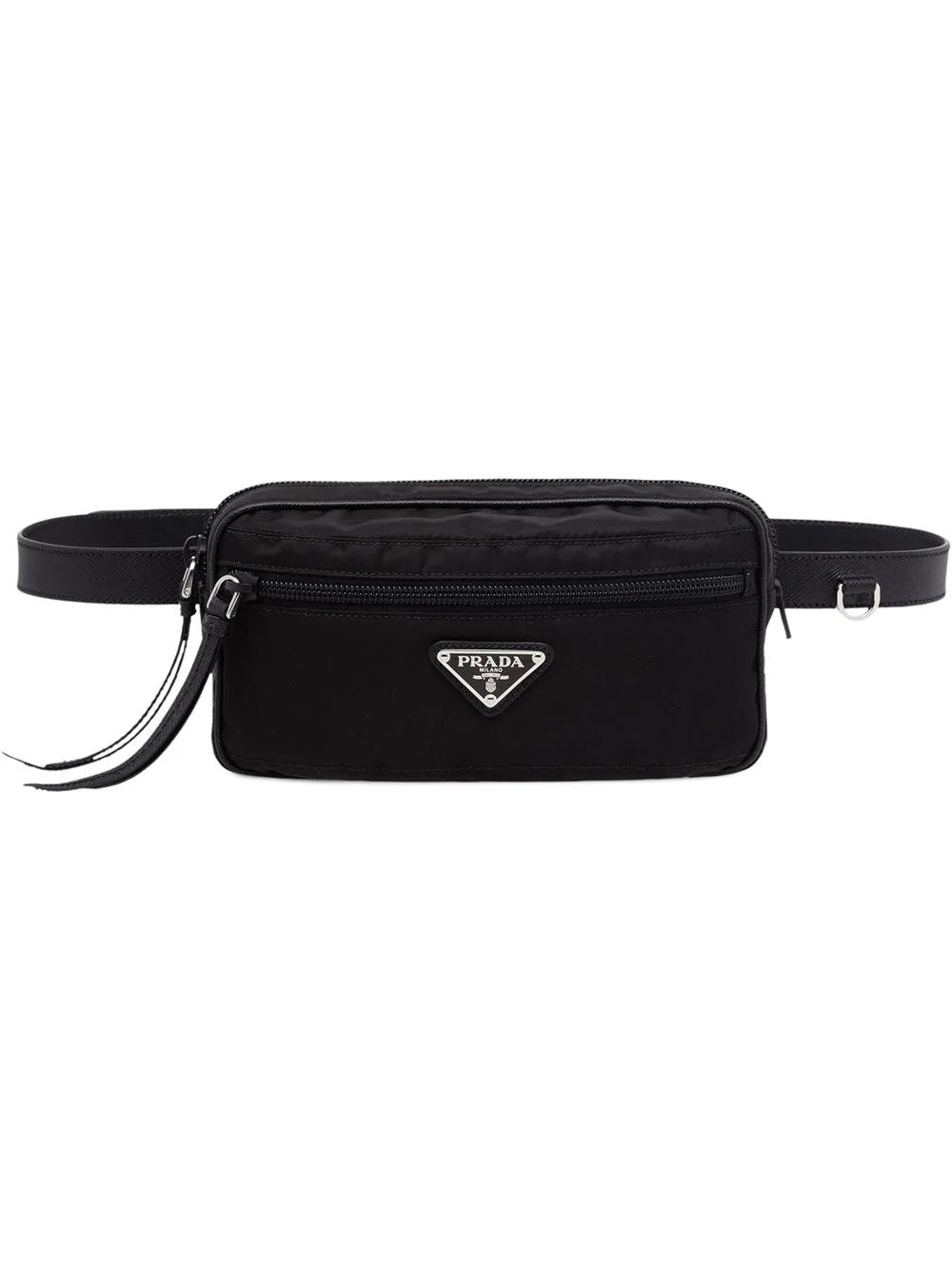 58650c894af8 Prada Fabric And Leather Belt Bag - Black | ModeSens