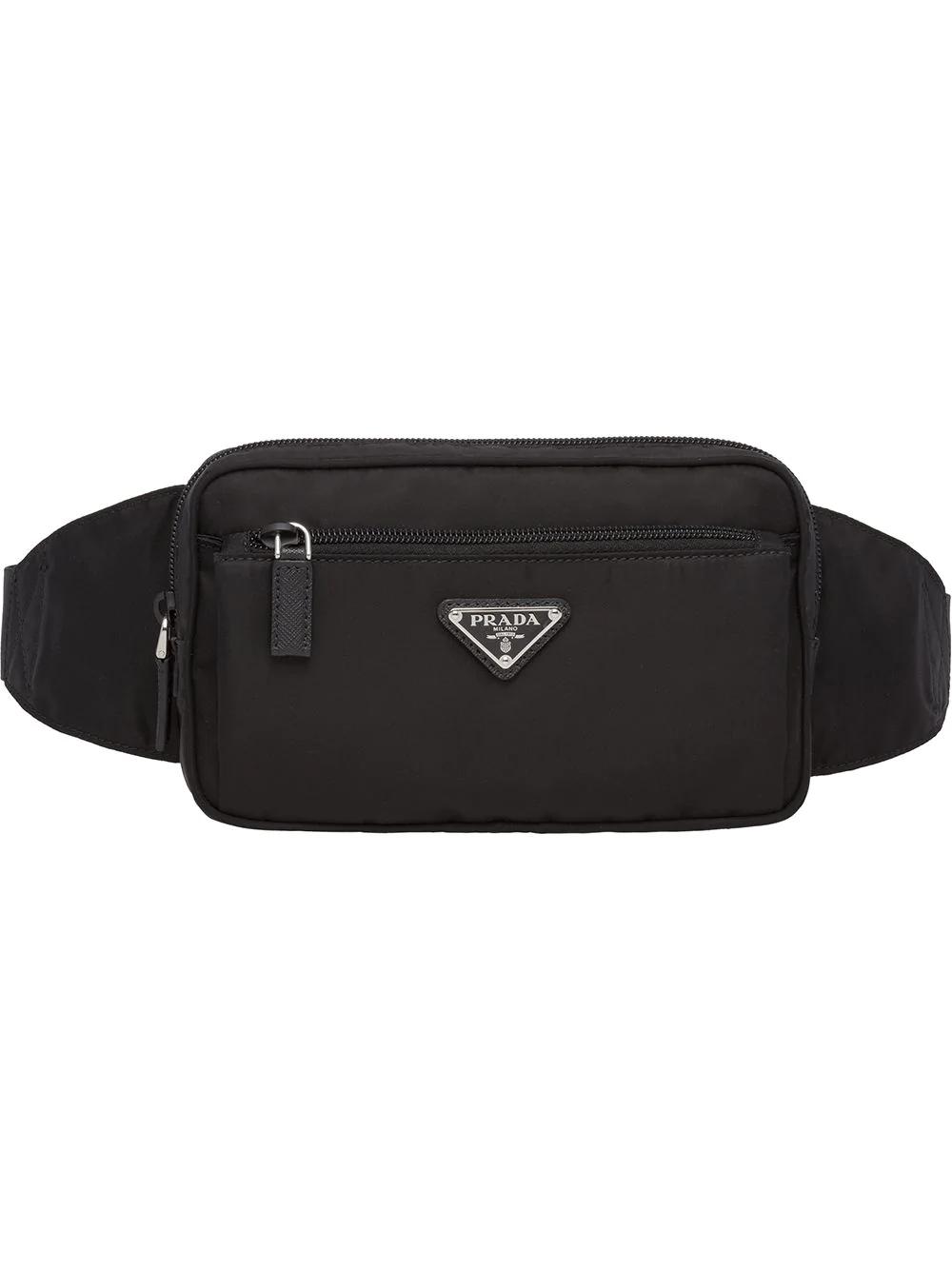 03f1e093656172 Prada Logo Belt Bag - F0002 Black   ModeSens
