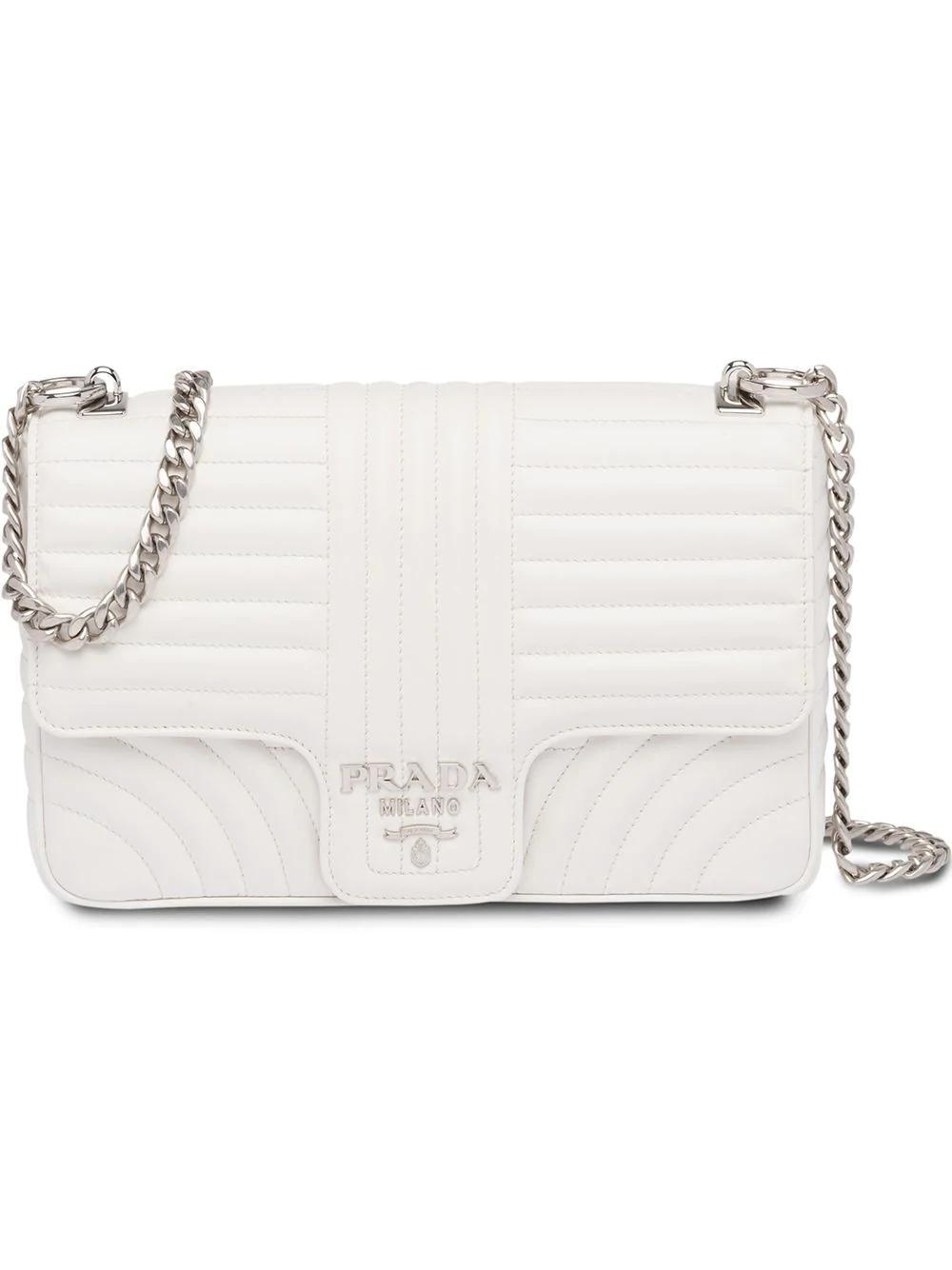 3ee573747731 Prada Diagramme Leather Shoulder Bag - White | ModeSens