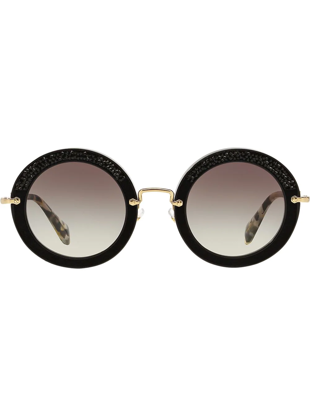 5d8c3f9e8b1 Miu Miu Eyewear Verzierte Sonnenbrille - Schwarz In Black