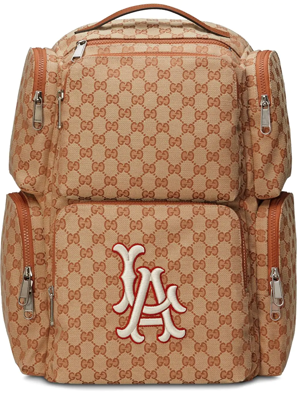 6eee190e7d52c Gucci Men s Large Original Gg Backpack With La Angels Mlb Applique In 9585  Nude