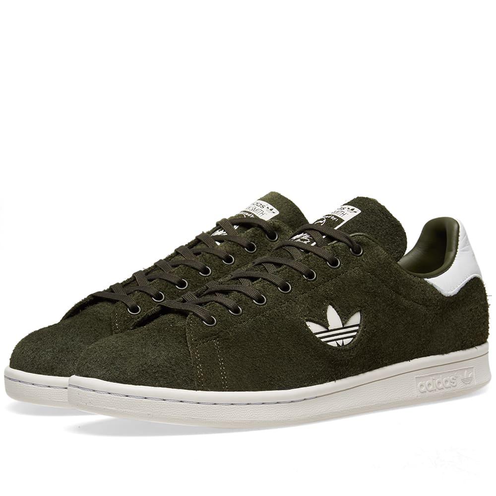 026f217ca5f0e0 Adidas Originals Adidas Stan Smith Premium Suede In Green   ModeSens
