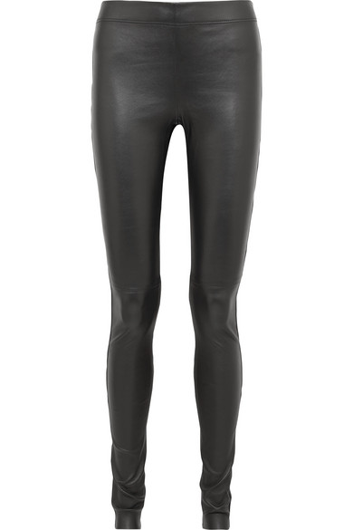 ada6efbff930b Joseph Stretch-Leather Leggings In Black | ModeSens