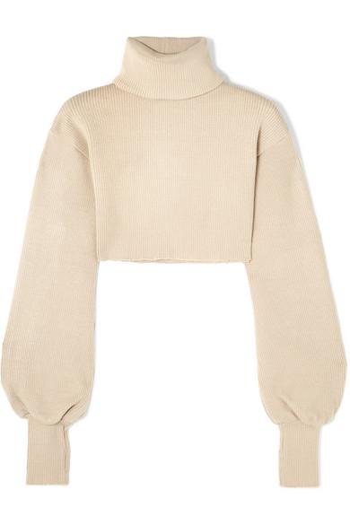 f8b2bab2d191c9 Orseund Iris Cropped Ribbed-Knit Turtleneck Sweater | ModeSens
