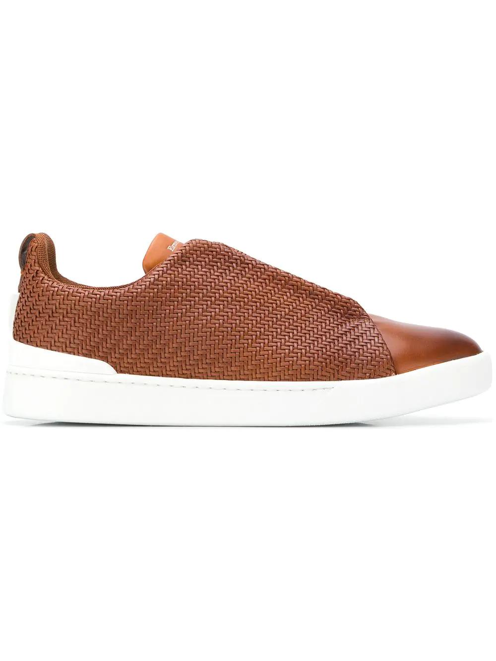 e206977dd86f Ermenegildo Zegna Xxx Slip-On Sneakers - Brown | ModeSens
