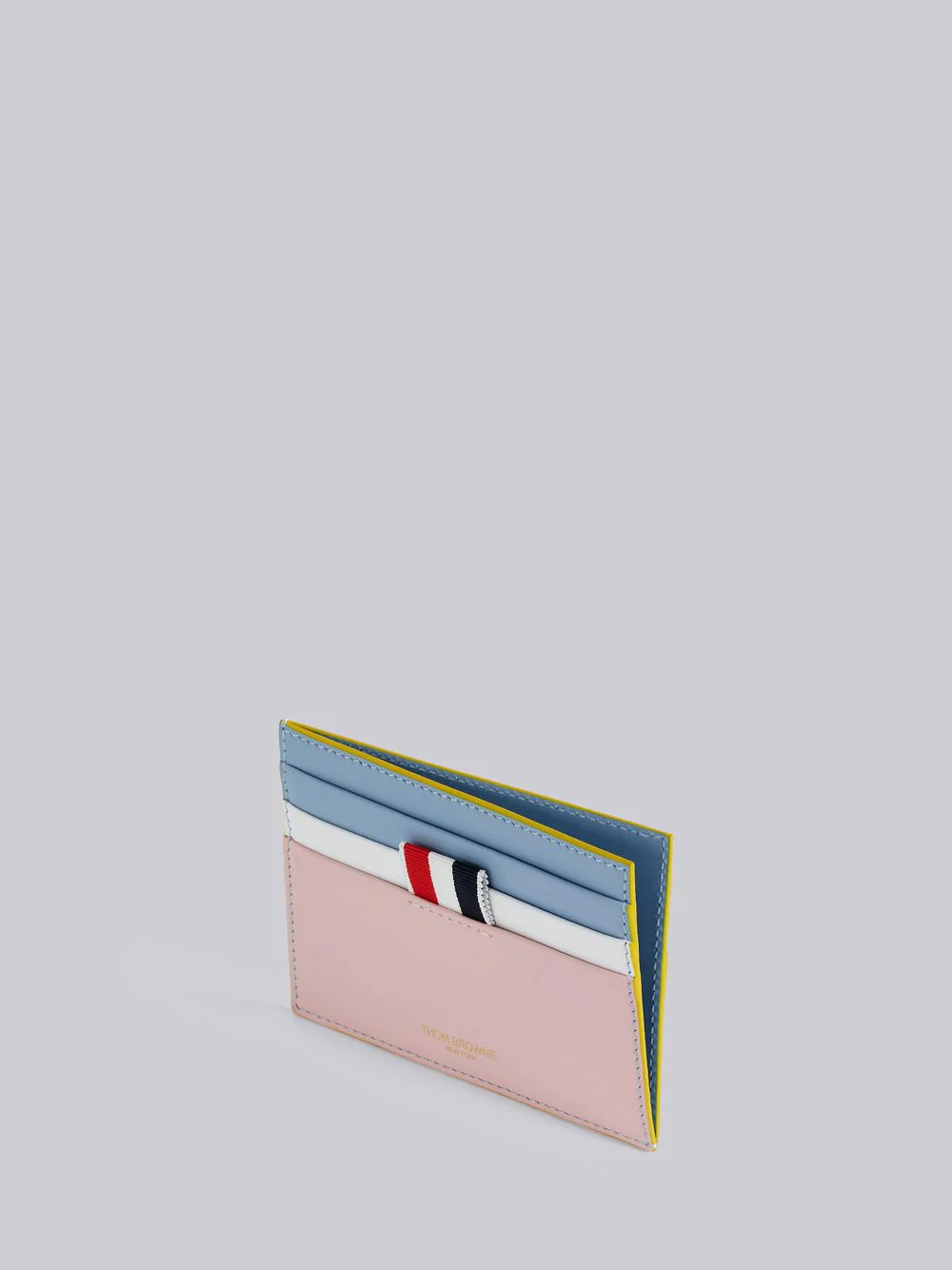 THOM BROWNE THOM BROWNE STAINED CALFSKIN NOTE CARDHOLDER,MAW144C0479413253338