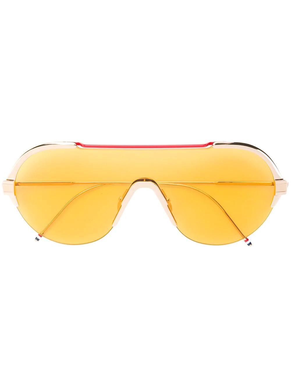 39366f5fe72a Thom Browne Eyewear Aviator Sunglasses - Gold | ModeSens