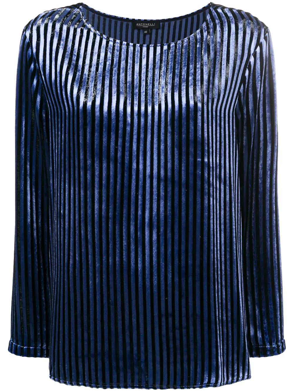 c132f596a000eb Antonelli Striped Blouse - Blue