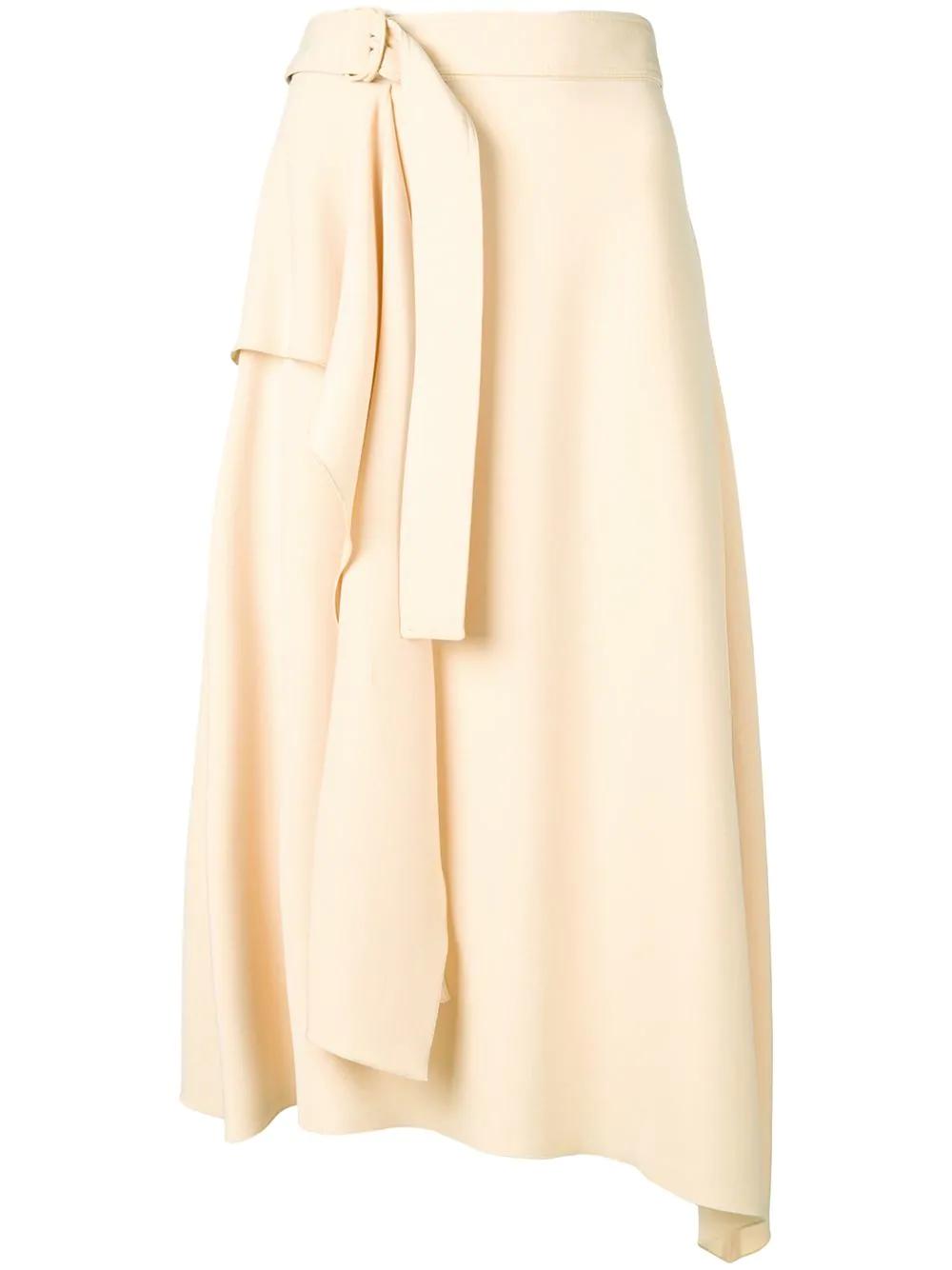 faae31477 Joseph Asymmetric Midi Skirt - Neutrals | ModeSens