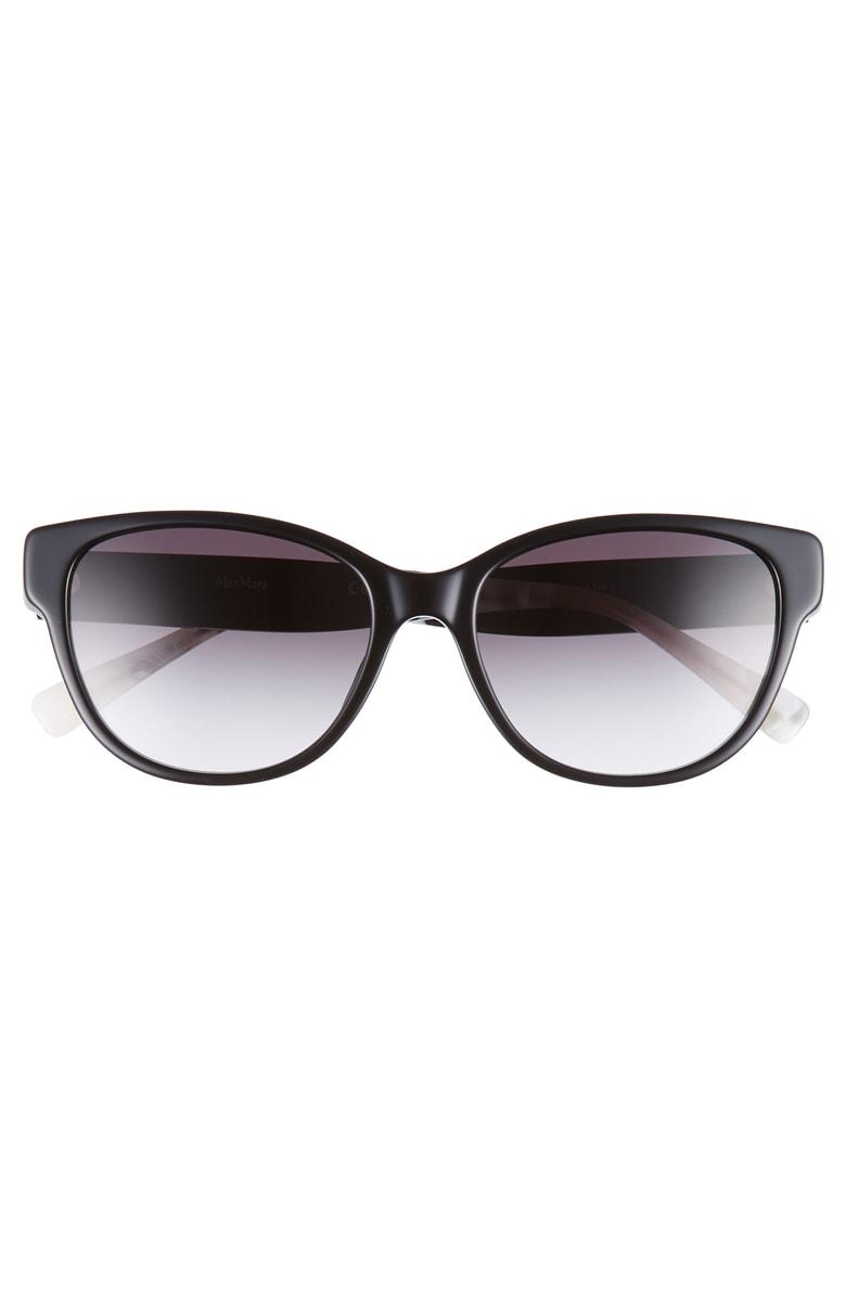 1ddb2ab4f09d Max Mara Leisure 55Mm Cat Eye Sunglasses - Black | ModeSens