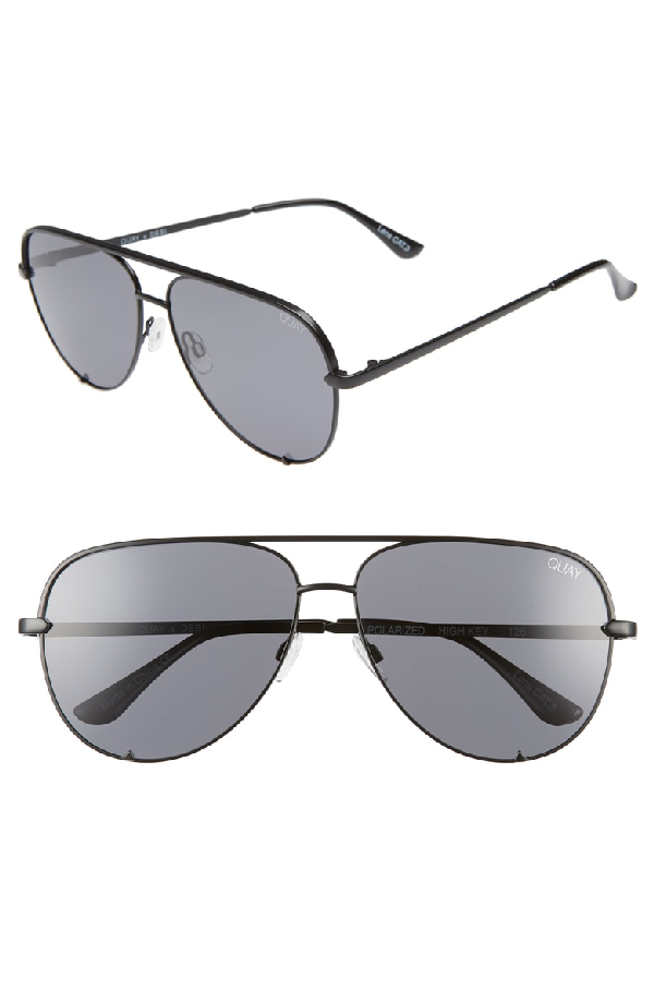 54bb63cb7c7b8 Quay X Desi Perkins High Key 62Mm Aviator Sunglasses - Black  Smoke ...