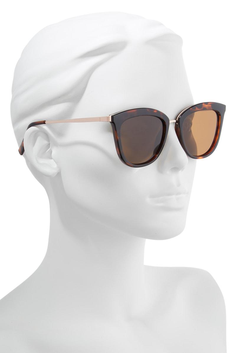 d4317373314 Le Specs Caliente 53Mm Polarized Cat Eye Sunglasses - Tortoise   Rose Gold