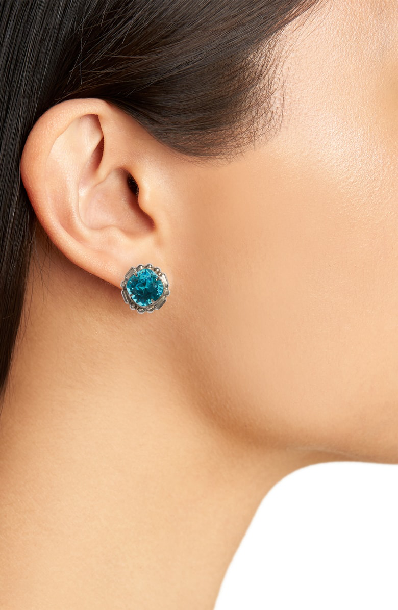 8ecd18596 Sorrelli Adorned Cushion Stud Earrings In Blue | ModeSens
