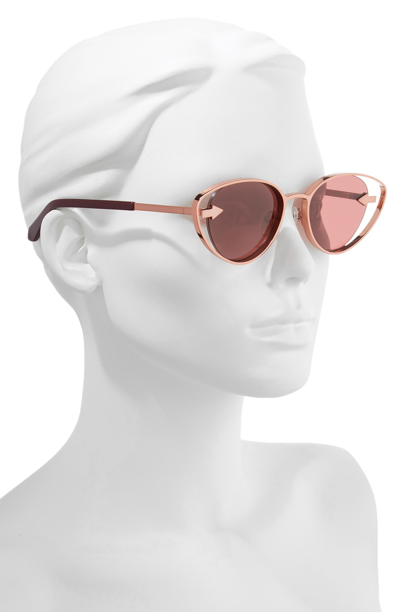 9841e39c9d9 Karen Walker Kissy Kissy 51Mm Cat Eye Sunglasses - Aubergine