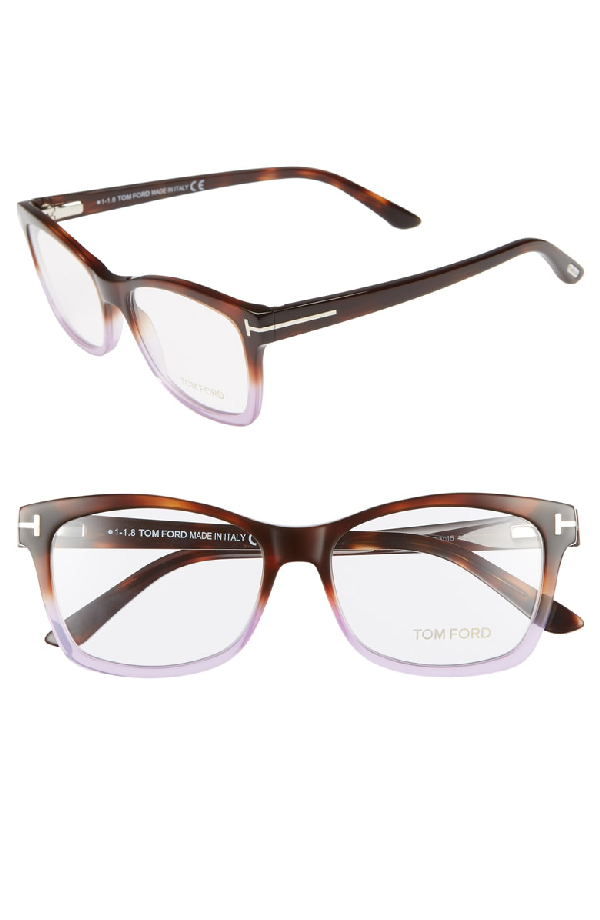 b2ea1e96390 Tom Ford 53Mm Optical Glasses - Havana Gradient  Dark Havana