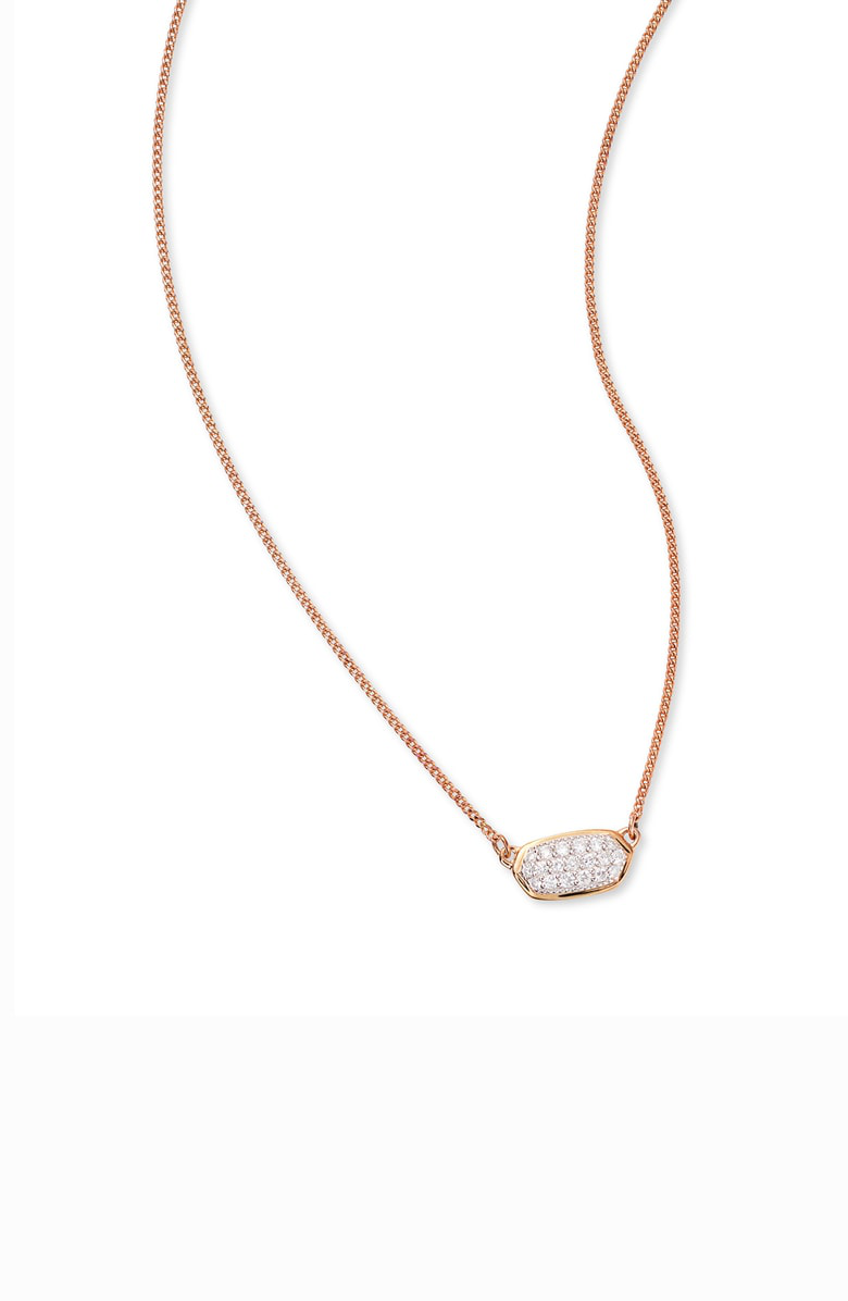 8a689d855aac5 Lisa Diamond Necklace In 14K Yellow Gold, 14K Rose Gold Or 14K White Gold,  15 in 14K Rsg White Diamond