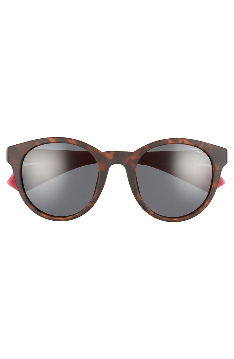 6a4d34b9943 Polaroid 52Mm Polarized Round Sunglasses - Havana  Fuchsia