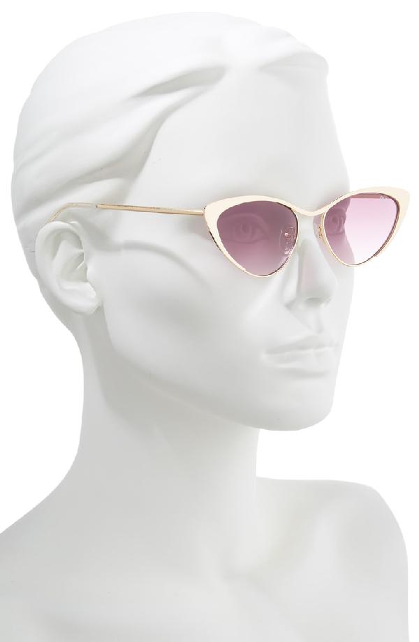 0e44631ac7bf1 Quay Boss 53Mm Cat Eye Sunglasses - Gold  Purple