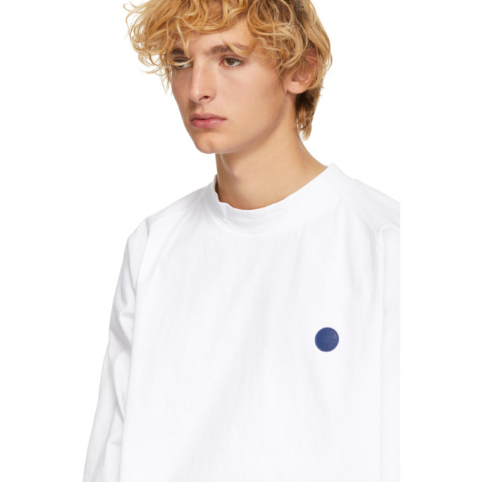 5dbef74c88d Acne Studios White BlÅ Konst Oversized Carp Uni Long Sleeve T-Shirt ...