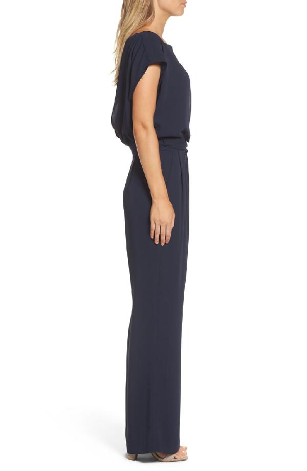 88af849cbee5 Eliza J Cap Sleeve Wide Leg Jumpsuit In Navy | ModeSens
