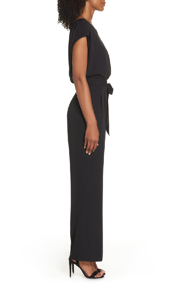 42444778df96 Eliza J Cap Sleeve Wide Leg Jumpsuit In Black | ModeSens