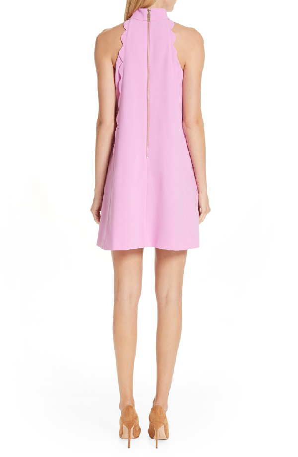 968fa3cfeff6 Ted Baker Torrii High Neck Tunic Dress In Bright Pink